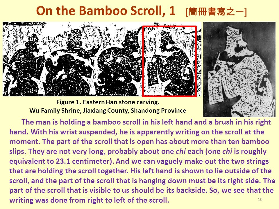 On the Bamboo Scroll, 1 [簡冊書寫之一]